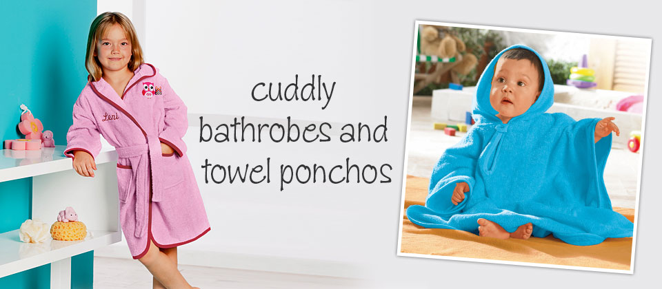 cuddly bathrobes and ponchos