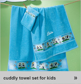 cuddly towel set for kids