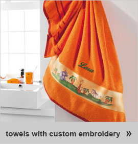 towels with custom embroidery