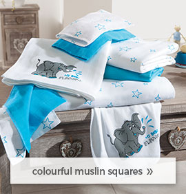 colourful muselin squares