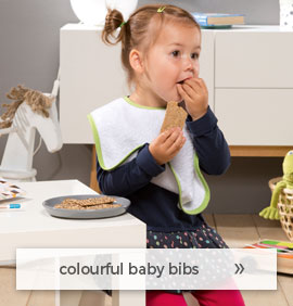 colourful baby bibs