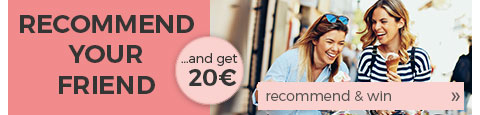 Recommend your friend and get a voucher worth € 20!